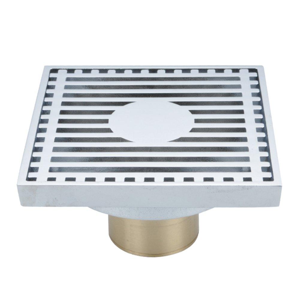 Wash water deodorant drain/brass shower drain to drain-E