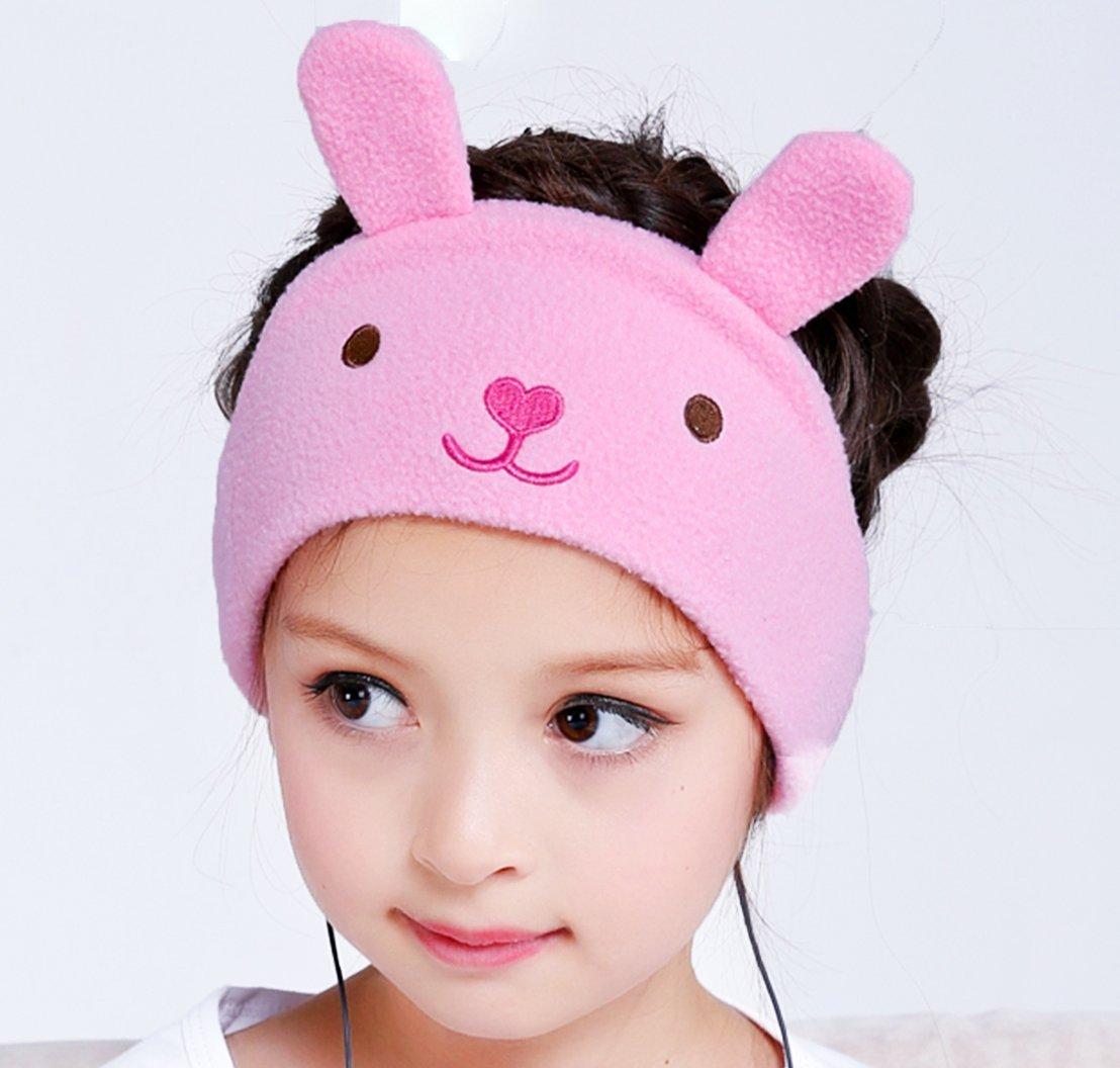 BananaB Kids Soft Fleece Adjustable Headband Headphones - Little Bunny