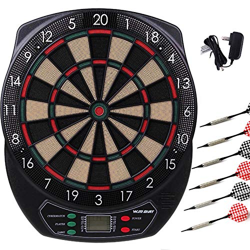 (WIN.MAX Electronic Soft Tip Dartboard Set LCD Display with 6 Darts, 40 Tips, Power Adapter (Electronic Dart board))