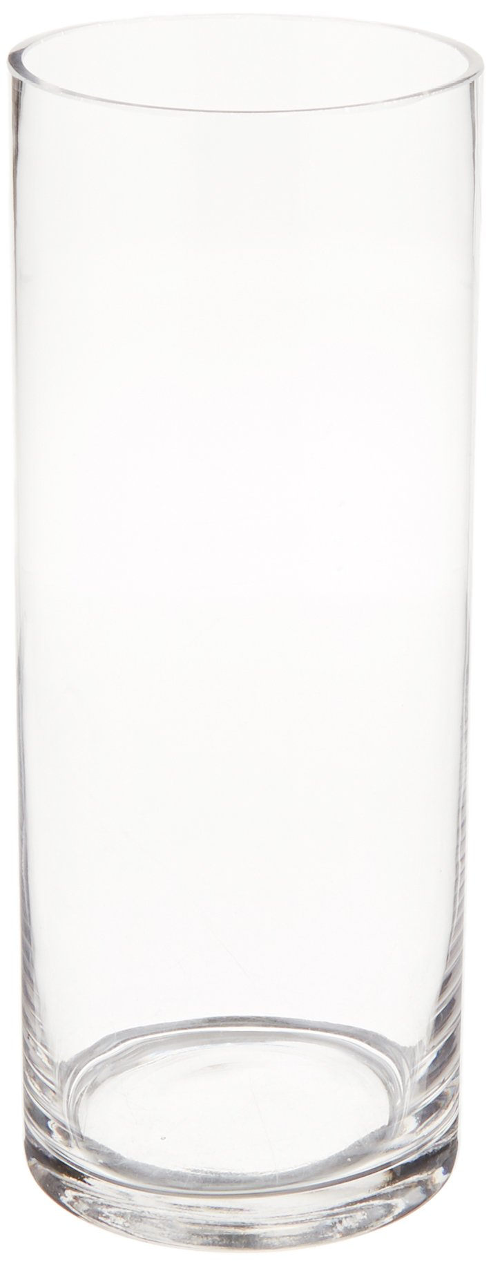 WGV Clear Cylinder Glass Vase, 4 by 10-Inch
