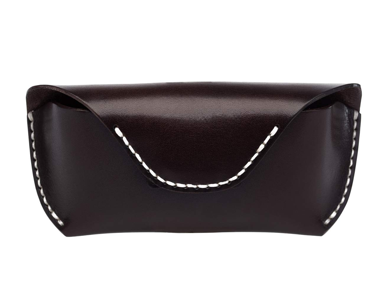 CDM product Boleke Unisex Handmade Genuine Leather Eyeglass Case Vintage Sunglasses Eyewear Protective Holder big image