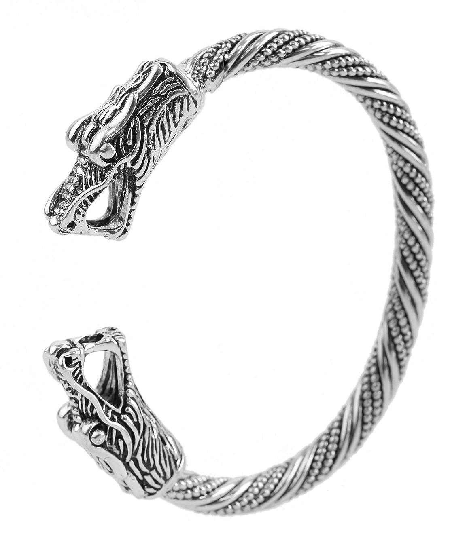 Braccialetto fatto a mano con draghi vichinghi, per uomo e donna YI WU KE JI