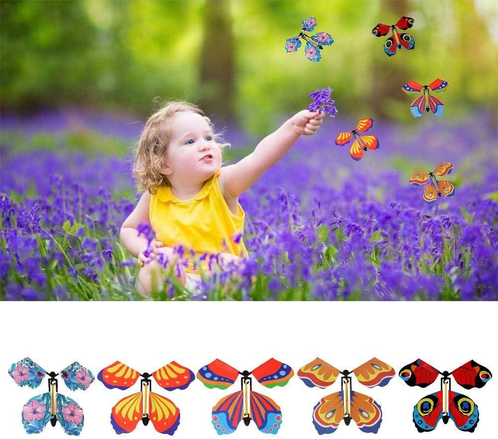 Meetforyou Cadeau de Papillon Volant Magique Remonter Le Papillon dans Le Livre F/ée Jouet Grand Mariage Surprise 10PCS