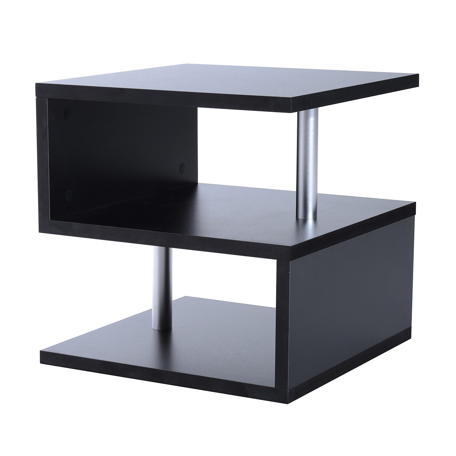 Amazon homcom modern contemporary multi level s shaped end amazon homcom modern contemporary multi level s shaped end table black home kitchen geotapseo Gallery