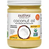 Nutiva Organic Coconut Oil Butter Flavor 14 Fl Oz-6 Pack