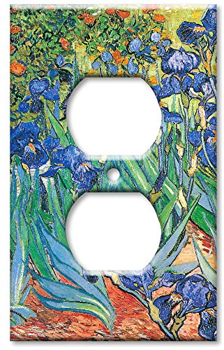 Art Plates - Van Gogh: Irises Switch Plate - Outlet Cover - Light Switch Outlet Cover Art