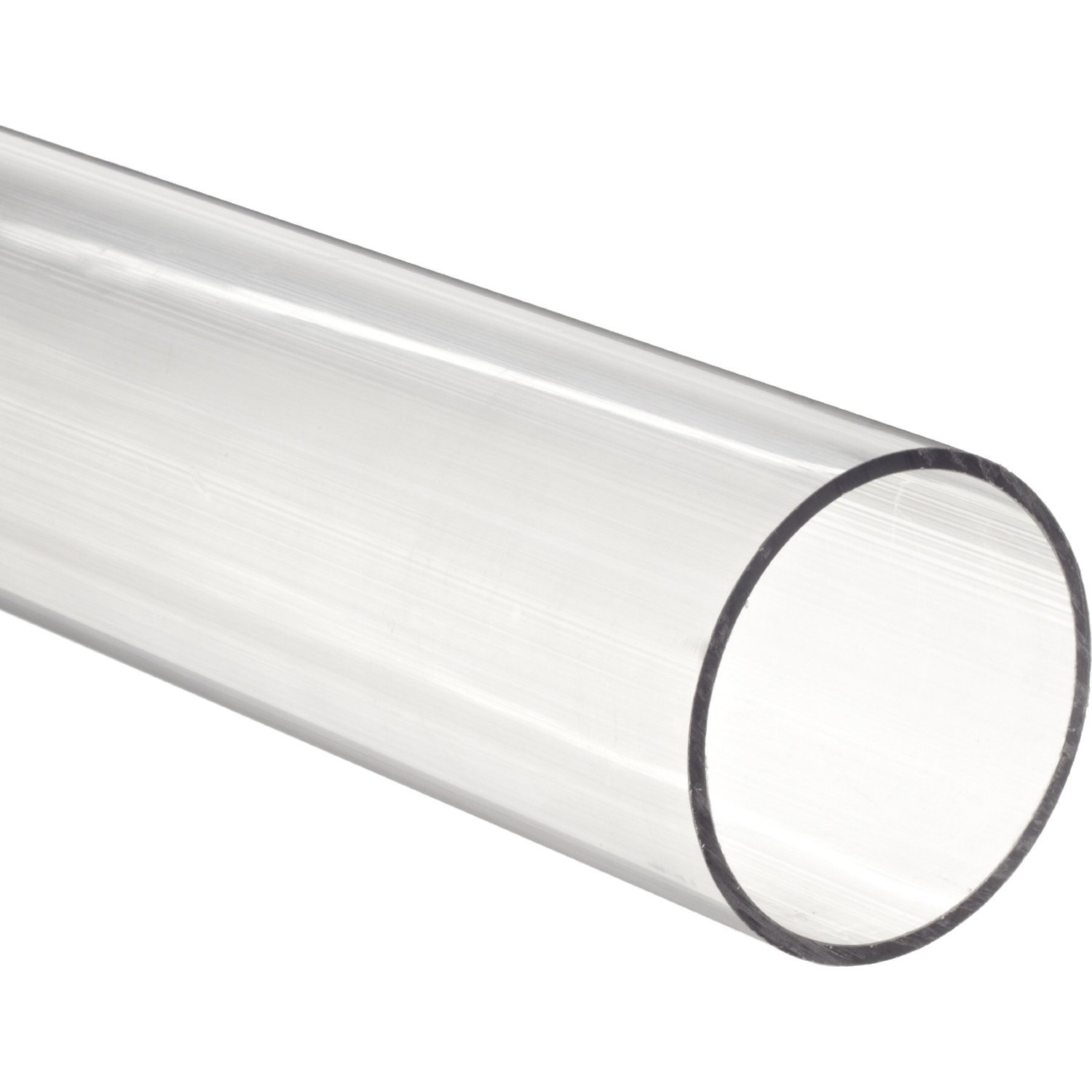 11-7/8'' Polycarbonate Round Tube (Clear) - 3-1/4'' ID x 3-1/2'' OD x 1/8'' Wall by Plastic-Craft