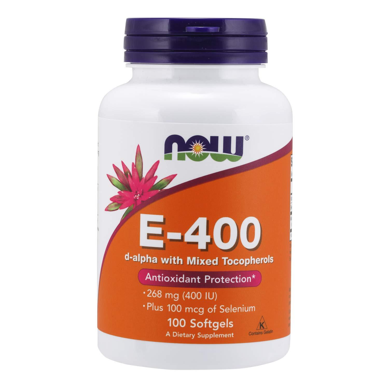 NOW Supplements, Vitamin E-400 IU, Mixed Tocopherols, Antioxidant Protection*, 100 Softgels