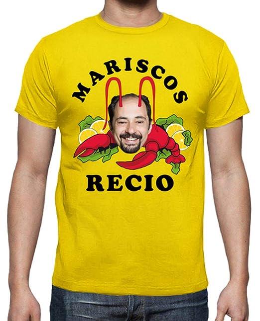 latostadora Camiseta Mariscos Recio - Camiseta Hombre clásica, Calidad Premium Amarillo limón Talla XL