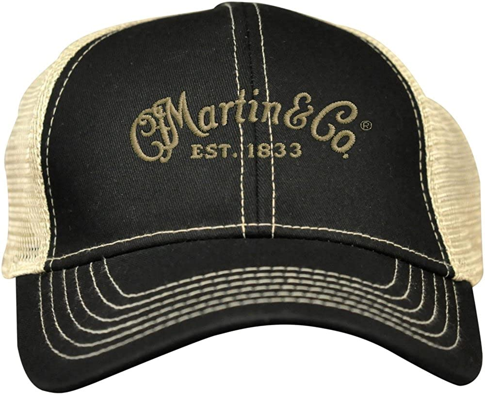 Martin Trucker Hat with Tan Mesh Black 18H0001