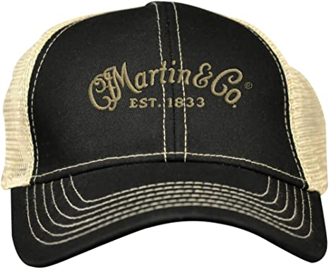Amazon.com  Martin Trucker Hat with Tan Mesh Black  Clothing cf8ecdf45abf