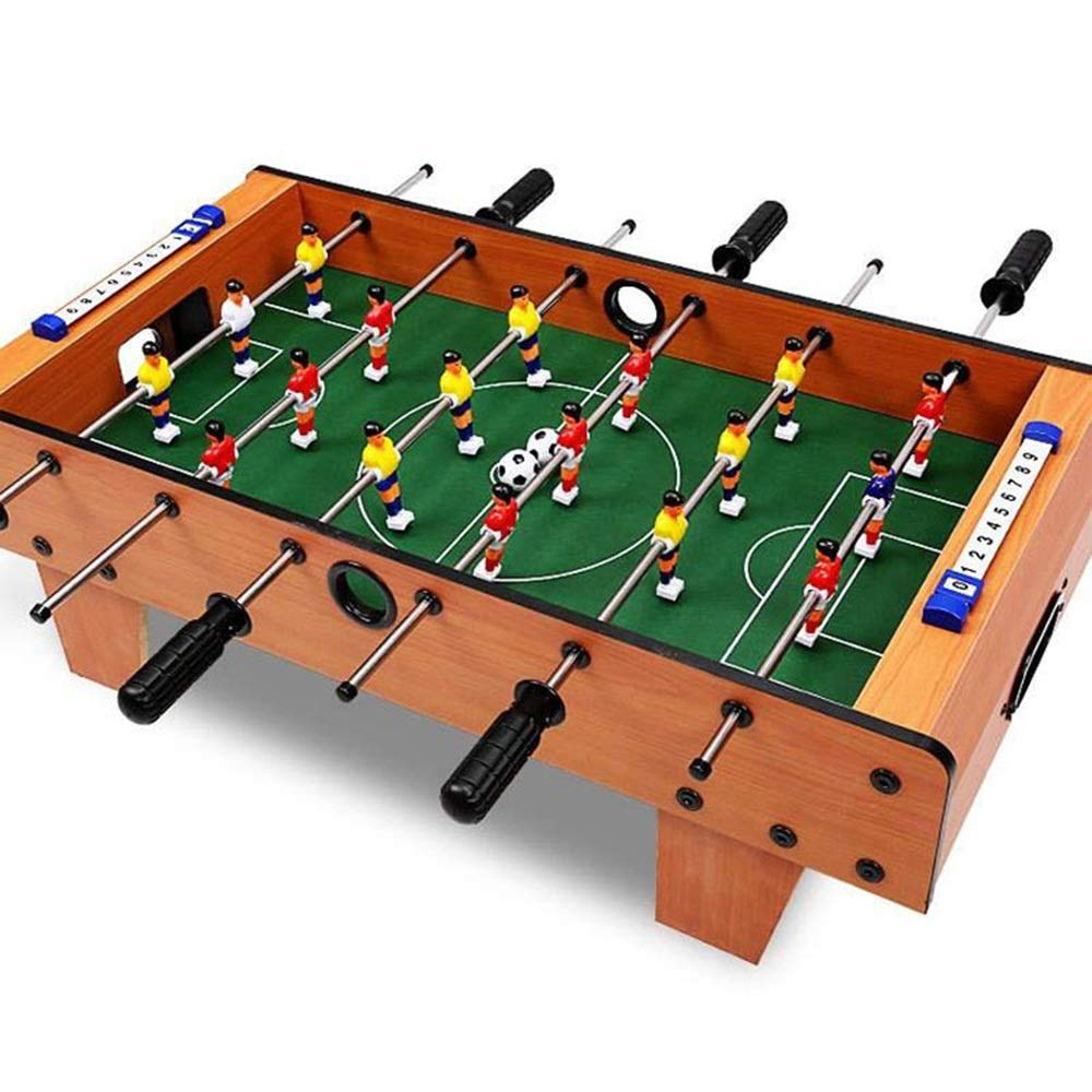 Foosball Tabletop Games Mini Size - Fun Portable Foosball Soccer Tabletops Soccer - Recreational Hand Soccer for Game Rooms Arcades Bars for Adults Family Night (Color : Color, Size : 69x37x24.5cm) by Forgiven