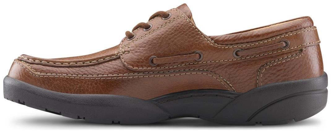 Dr. Comfort Patrick Men's Therapeutic Extra Depth Boat Shoe: Chestnut 12 X-Wide (3E/4E) Lace by Dr. Comfort (Image #4)