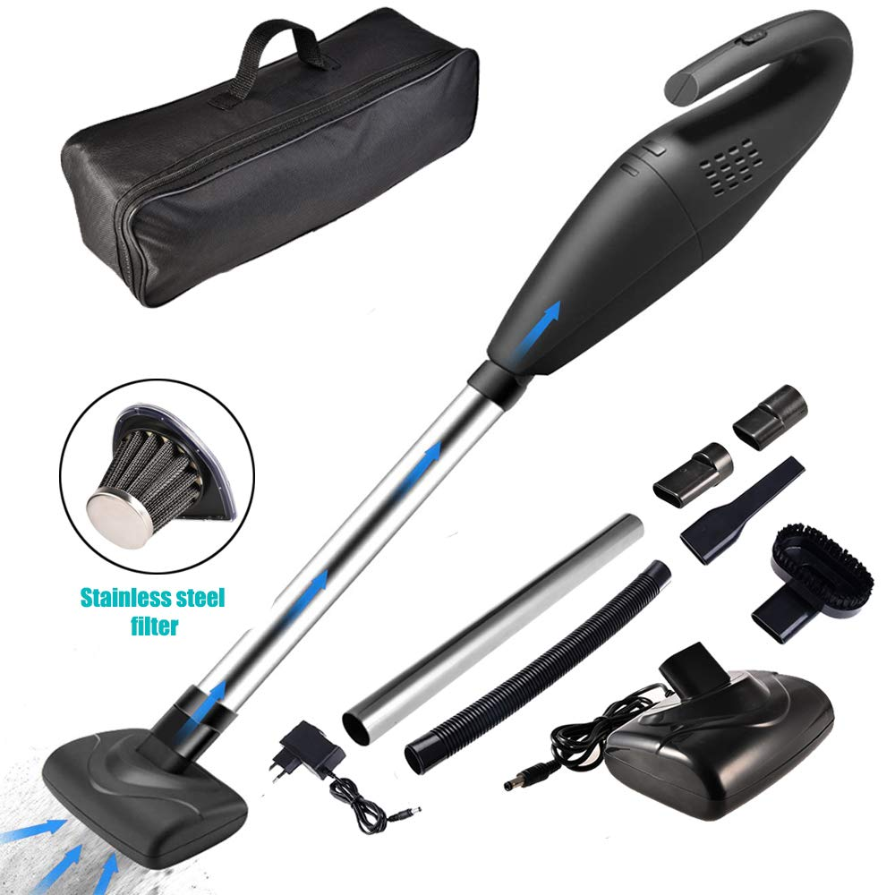 ACUMSTE Car Vacuum Cleaner, Handheld Vacuum Cordless Rechargeable 6KPA Powerful Cyclonic Suction Cleaner Multifunctional Wet Dry Cordless Vacuum Cleaner