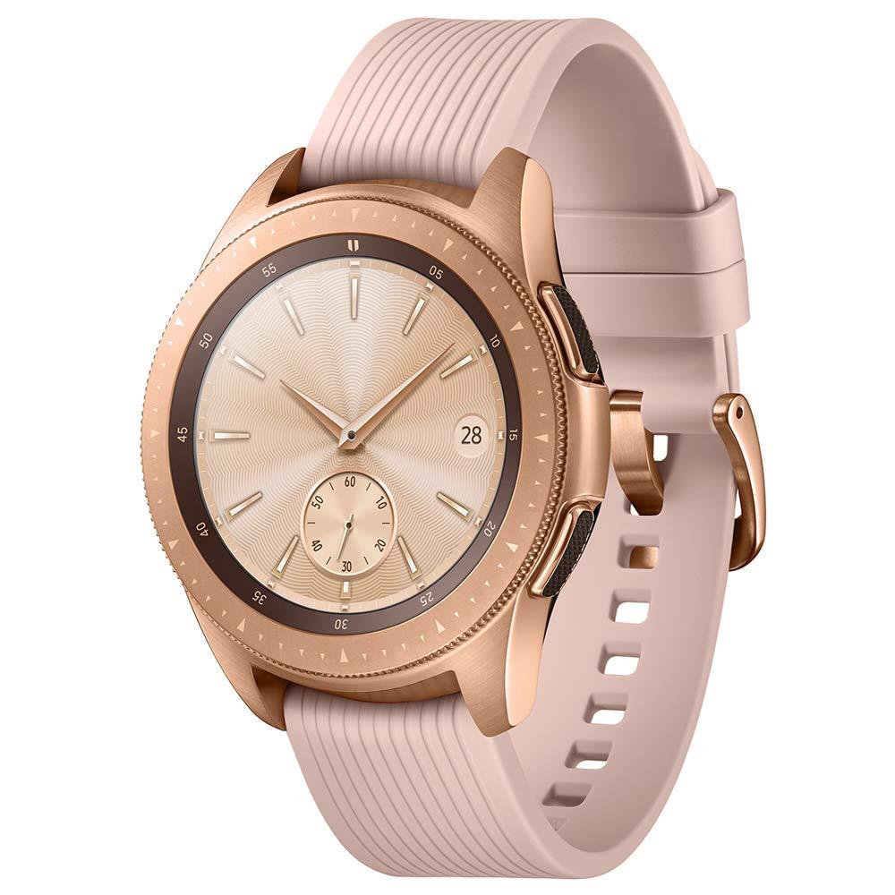 SAMSUNG SM-R815UZDAXAR Galaxy Smartwatch 42mm 4G Stainless Steel (Rose Gold) - (Renewed)