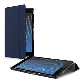 kwmobile Funda compatible con Sony Xperia Tablet Z3 Compact - Carcasa de [cuero sintético] con [tapa magnética] y soporte para tablet