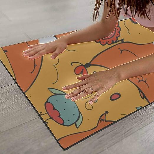 Amazon.com : XUGGL Artmatic Yoga Mat Cute Ginger Foxes ...