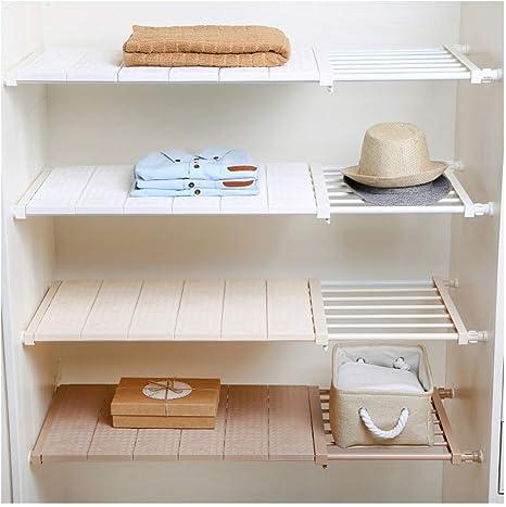 Adjustable Closet Organizer Extendable Shelf Storage Rack Kitchen Cabinet