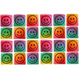 G4GADGET Heavy Duty Mini Slinky Smiley Face Springs Rainbow Smiley Face Spring Party Bag Fillers Wedding Kids Toy Pinata