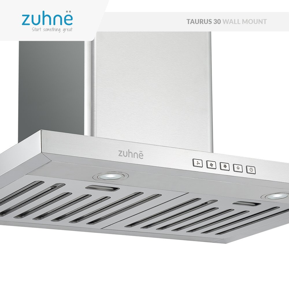 Zuhne Taurus 30 inch Kitchen Wall Mount Vented/ Ductless Stainless Steel Range Hood or Stove Vent with Energy Saving Touch Control & LED Lights by Zuhne (Image #3)