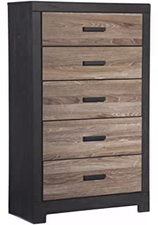Ashley Furniture Signature Design   Harlinton Chest Of Drawers   5 Drawer  Dresser   Contemporary Vintage