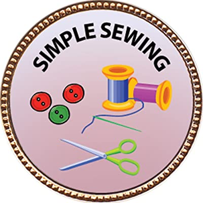 Keepsake Awards Simple Sewing Award, 1 inch Dia Gold Pin Creative Arts and Hobbies Collection: Toys & Games