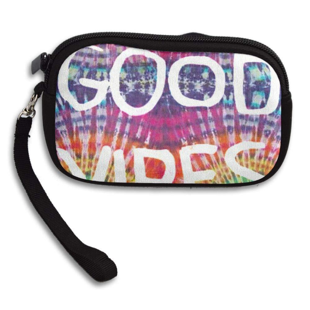 HACVREQ Unisex Personalized Wallet,Good Vibes Purse Bag Woman Ladies Men Gentlemen