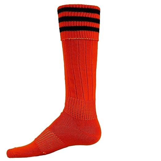 5347177df431 Red Lion Striker Knee High Athletic Soft Socks ( Orange / Black - Large )