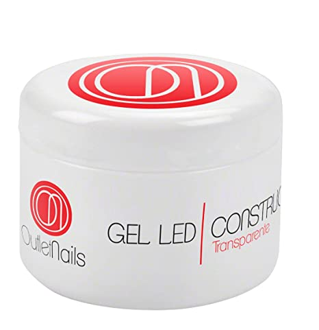 Gel de Construcción Clear UV/LED 50ml para Uñas de OUTLET NAILS, transparente,
