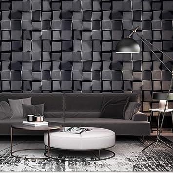 3d Stereoskopische Abstrakte Schwarze Plaid Tapete Moderne Geometrische Tapeten Wohnzimmer Schlafzimmer Buro Wand Papierrolle 350x250cm Amazon De Baumarkt