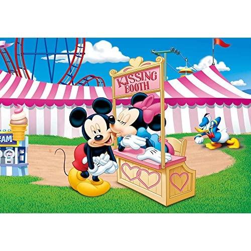 Delicate Fhzon 10x7ft Disney Kissing Booth Backdrop Mickey Minnie