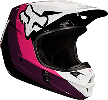 Casco Mx Fox 2018 V1 Halyn Negro-Rosado (L , Negro)