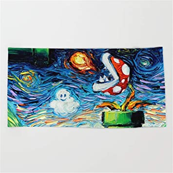 "ewtretr Toallas de Playa Super (Starry Night) Mario Beach Towel 31.5""x51."