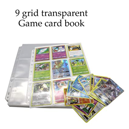 Amazoncom Macroog 9 Pocket Baseball Card Sleeves Transparent