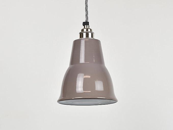 Pantalla para lámpara de techo, color beige, esmalte ...
