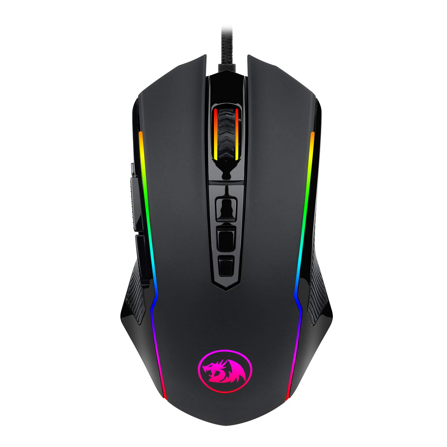 Redragon M910 Ranger Chroma Gaming Mouse with 16.8 Million RGB Color Backlit, Comfortable Grip, 9 Programmable Buttons, up to 12400 DPI User Adjustable