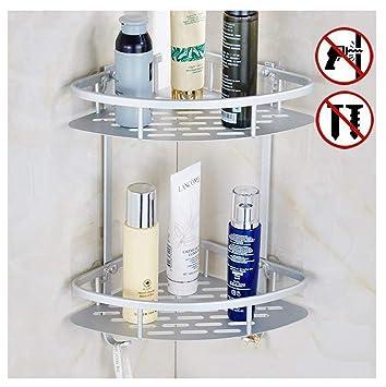 Kein bohren Badezimmer Eckregal Regal, 1 2 3-Tier-Caddy, Shampoo ...