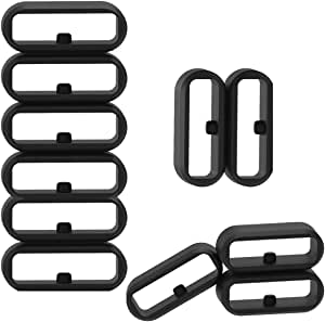 RuenTech Fastener Ring Compatible with Garmin Vivoactive 3 / Vivoactive 3 Music / Vivomove/ Vivomove HR Bands Replacement Silicone Connector Security Loop (Pack of 11)