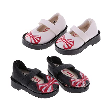 PU Leather Flat Shoes for 1//6 12/'/' Blythe Doll Clothing Accessories 2 Pairs