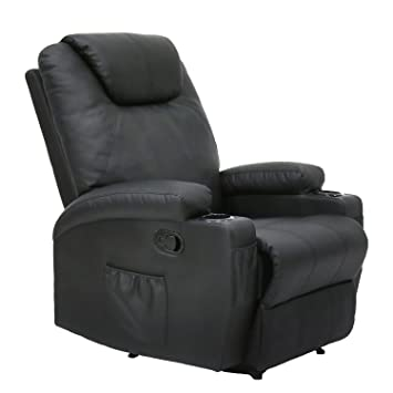 Kinbor Massage Recliner Leather Sofa Chair Ergonomic Lounge Swivel Heated  With Control And Cup Holder (