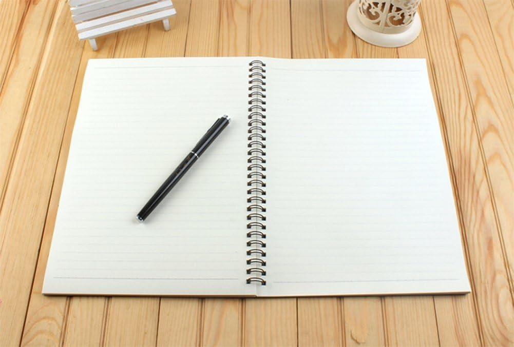 1 pcs Westeng Cahiers /à spirales Simple Carnet /à feuillets mobiles R/étro /étudiant Bloc-notes Notebook 60 feuilles pour Fournitures de Bureau