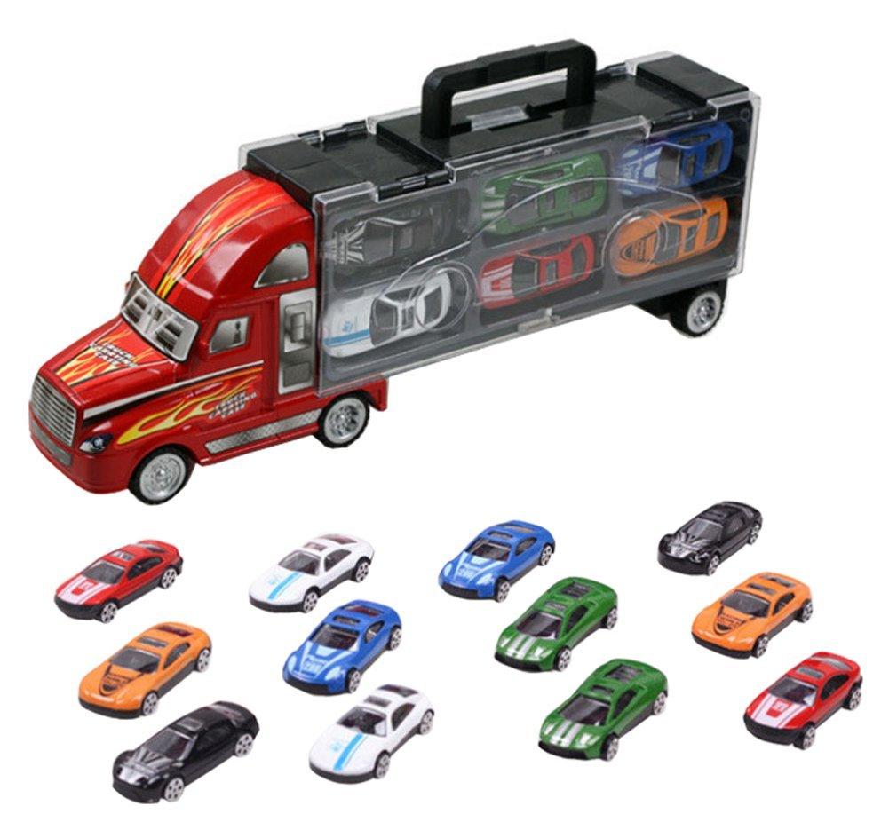 【国内発送】 topjin LargeポータブルダイキャストVehicles再生コンテナトラックモデルおもちゃ12個の合金車 topjin B073TX98TS, COMMON SENSE:a2fdc489 --- a0267596.xsph.ru