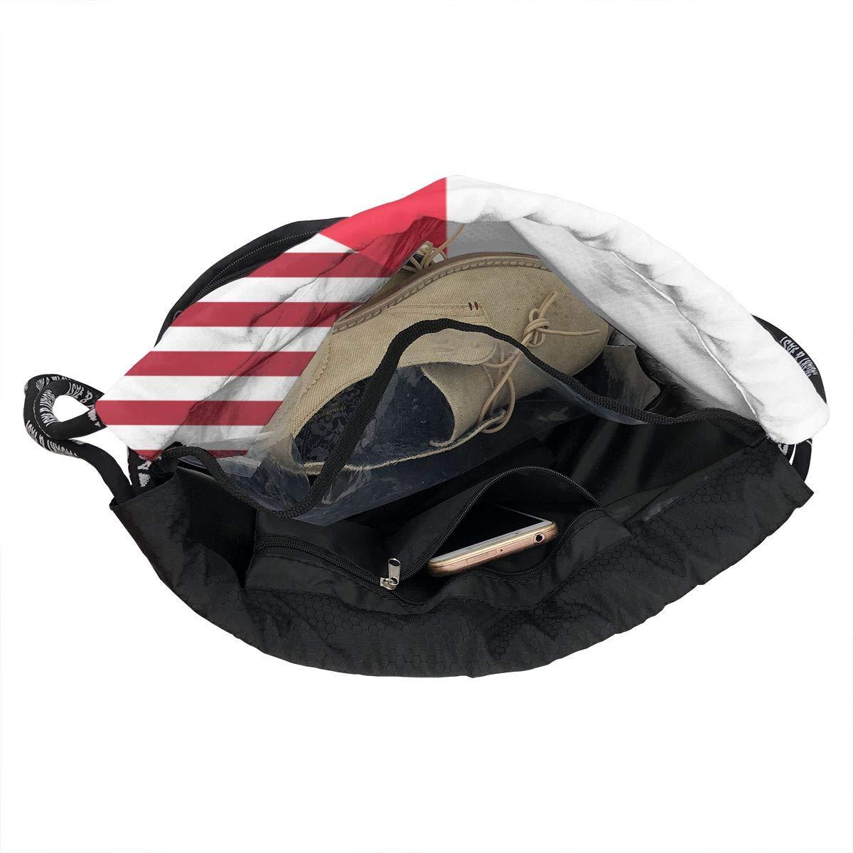 France USA Friendship Flag Drawstring Bag Multifunctional String Backpack Custom Cinch Backpack Rucksack Gym Bag