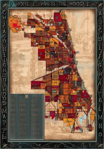 Third Edition Chicago Neighborhood Map Christopher Devane