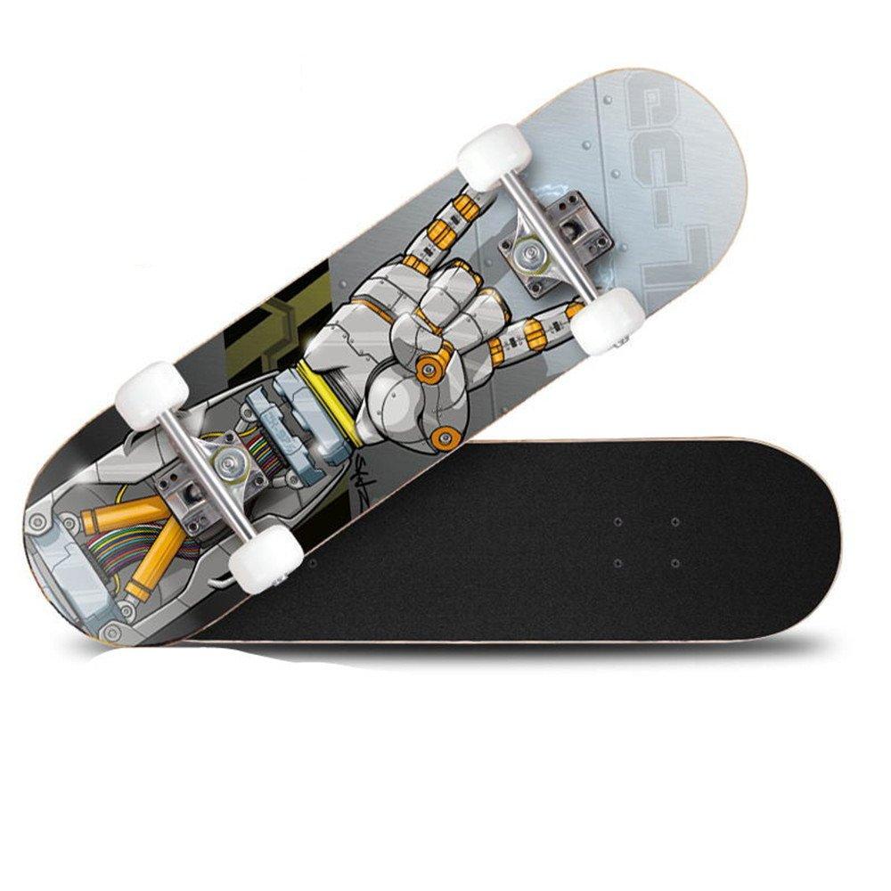 大特価 頑丈なデッキを備えたクルーザーのスケートボードと大人の子供用の4つのクリアPUホイール初心者の女の子ボーイズ (Color gray : Robot Blue) Robot B07H7Z2WWY Robot gray Robot gray, ミクモチョウ:e9fbd519 --- a0267596.xsph.ru