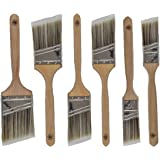 Pro Grade - Paint Brushes - 6 Pack Variety Angle Paint Brushes