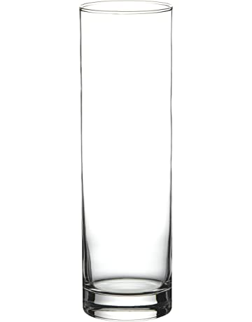 Pasabahce 43767 - Flora Jarrón de cristal, cilíndrico, 26,5 cm.