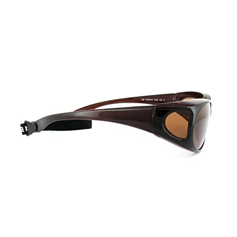 1ae7b93e916 Polaroid Suncovers Fitover Sunglasses P8900 09Q HE Brown Copper Polarized   Amazon.co.uk  Clothing