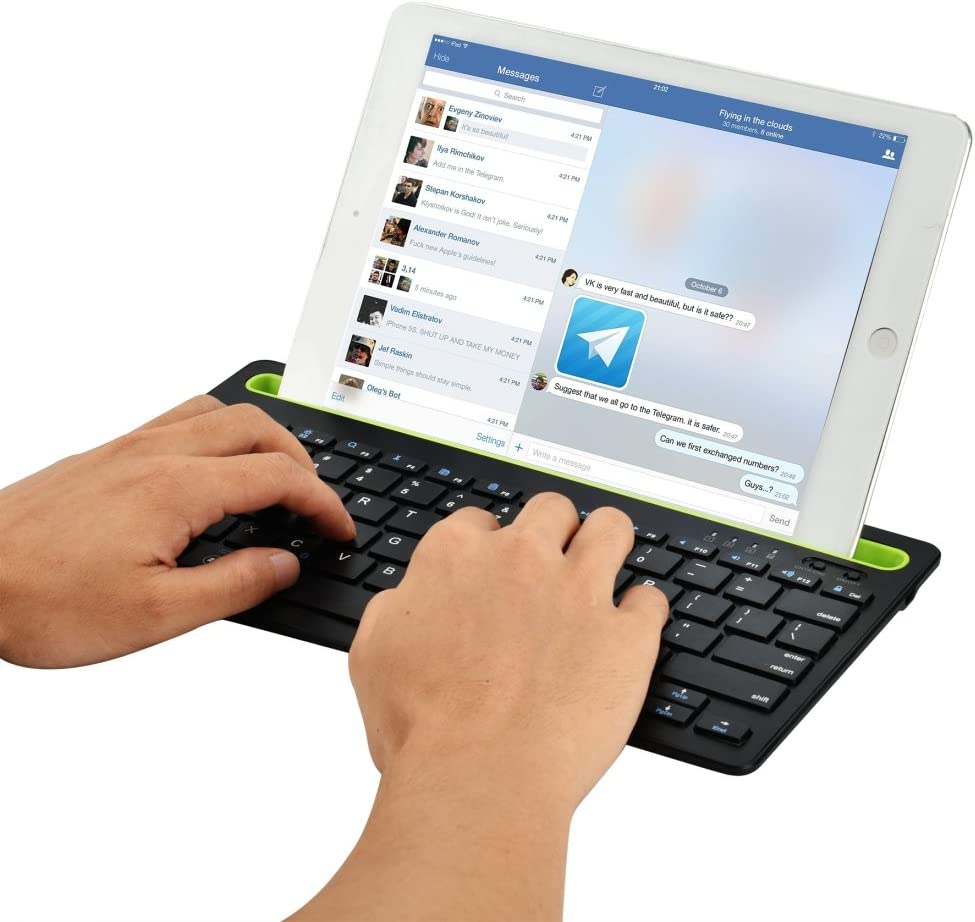 Happyshopping K400 Plus 2.4GHz Wireless Touch Keyboard B908 Ultra-Slim 78 Keys Bluetooth Wireless Keyboard with Concave Mobile Phone Holder Color : Black