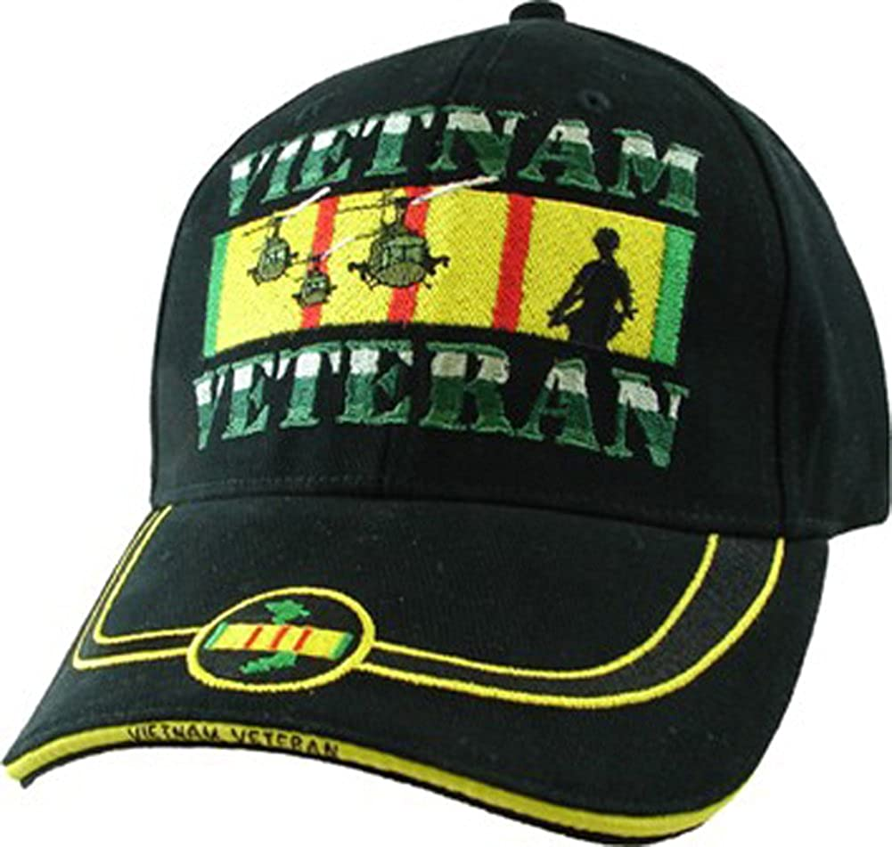 Vietnam Veteran Ribbon Embroidered Cap